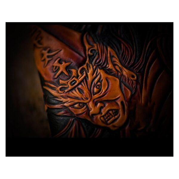 20323 - Портмоне ручной работы Kongery Demonic Shade: кожа первый слой