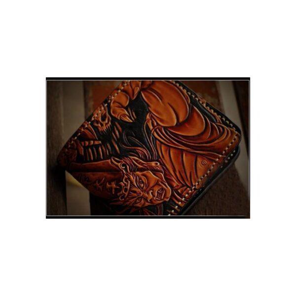 20324 - Портмоне ручной работы Kongery Demonic Shade: кожа первый слой