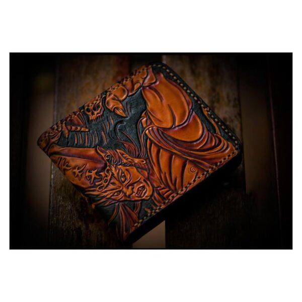 20326 - Портмоне ручной работы Kongery Demonic Shade: кожа первый слой