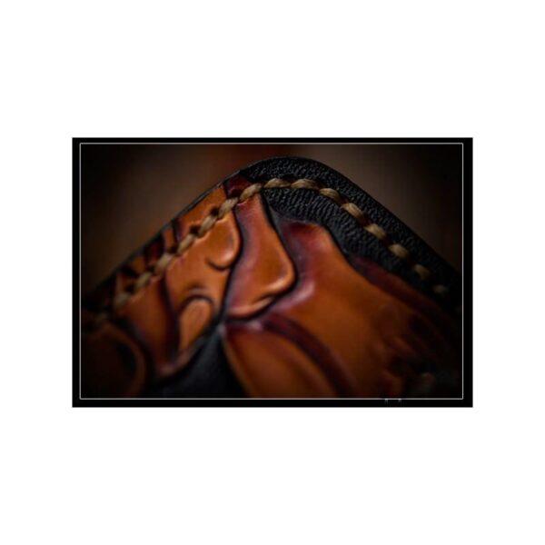 20329 - Портмоне ручной работы Kongery Demonic Shade: кожа первый слой
