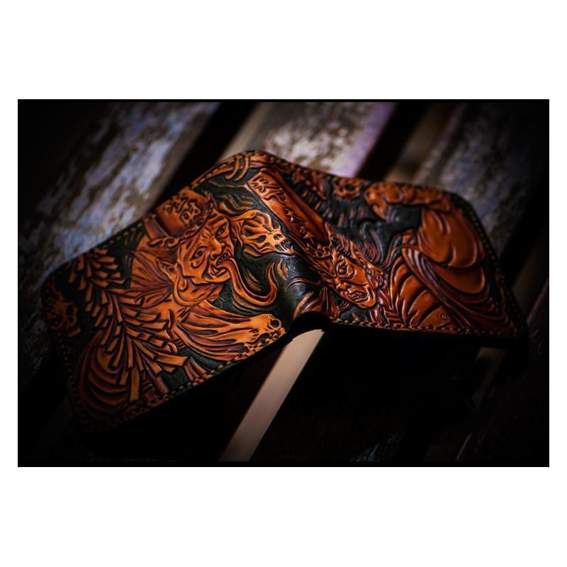 Портмоне ручной работы Kongery Demonic Shade: кожа первый слой 200161