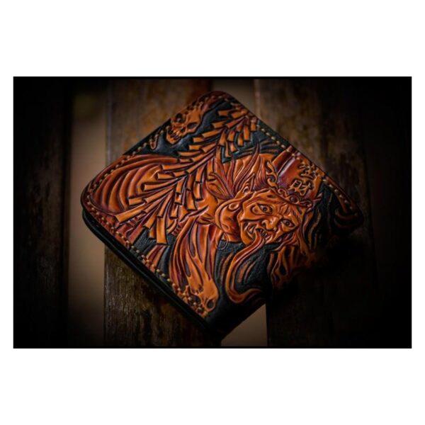 20333 - Портмоне ручной работы Kongery Demonic Shade: кожа первый слой
