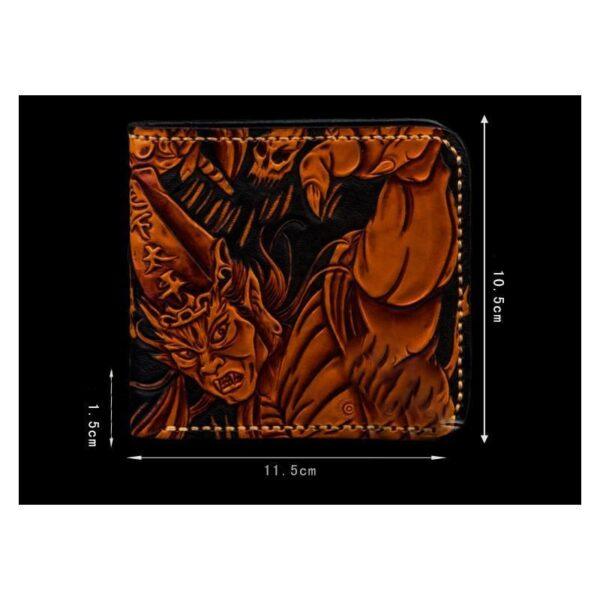 20335 - Портмоне ручной работы Kongery Demonic Shade: кожа первый слой