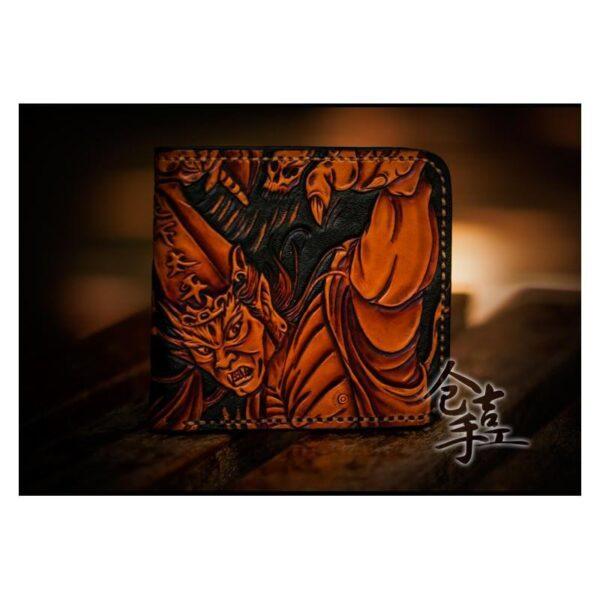 20338 - Портмоне ручной работы Kongery Demonic Shade: кожа первый слой