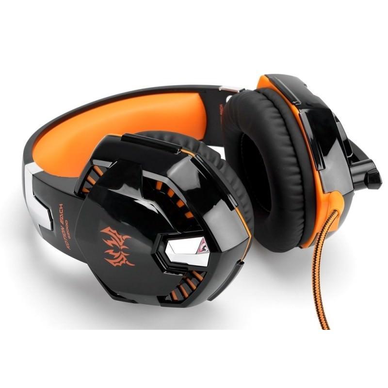 Игровые наушники Kotion Each G2000 Pro Gaming (Original) с микрофоном, шумоподавление, кабель 2.2 м, светодиодная подсветка 184993