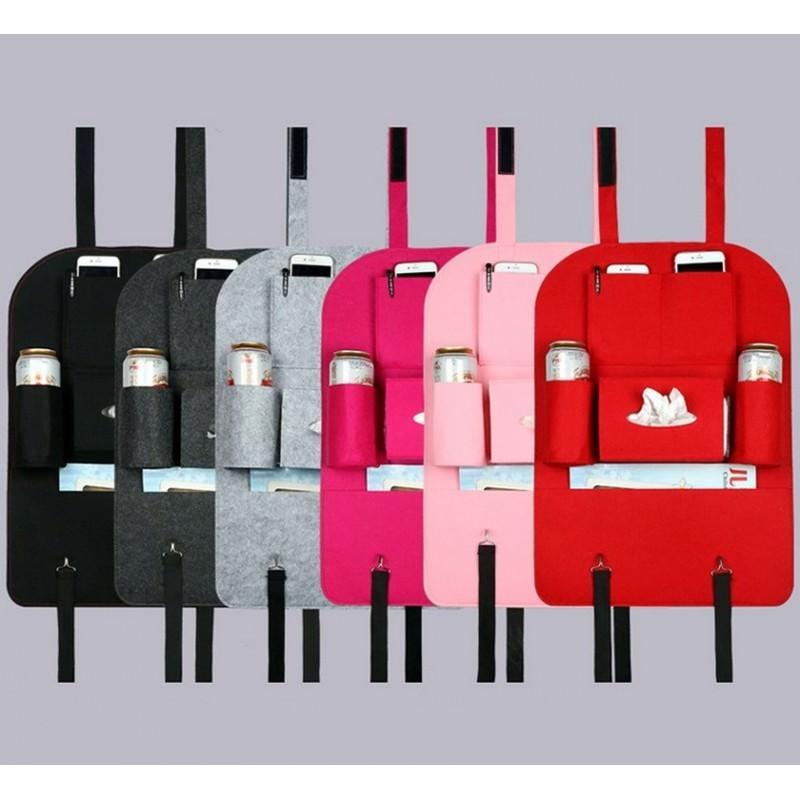 20361 - Чехол-сумка для автокресла (комплект из 2-х штук) - ассортимент цветов, универсальный размер, 6 функциональных отделений