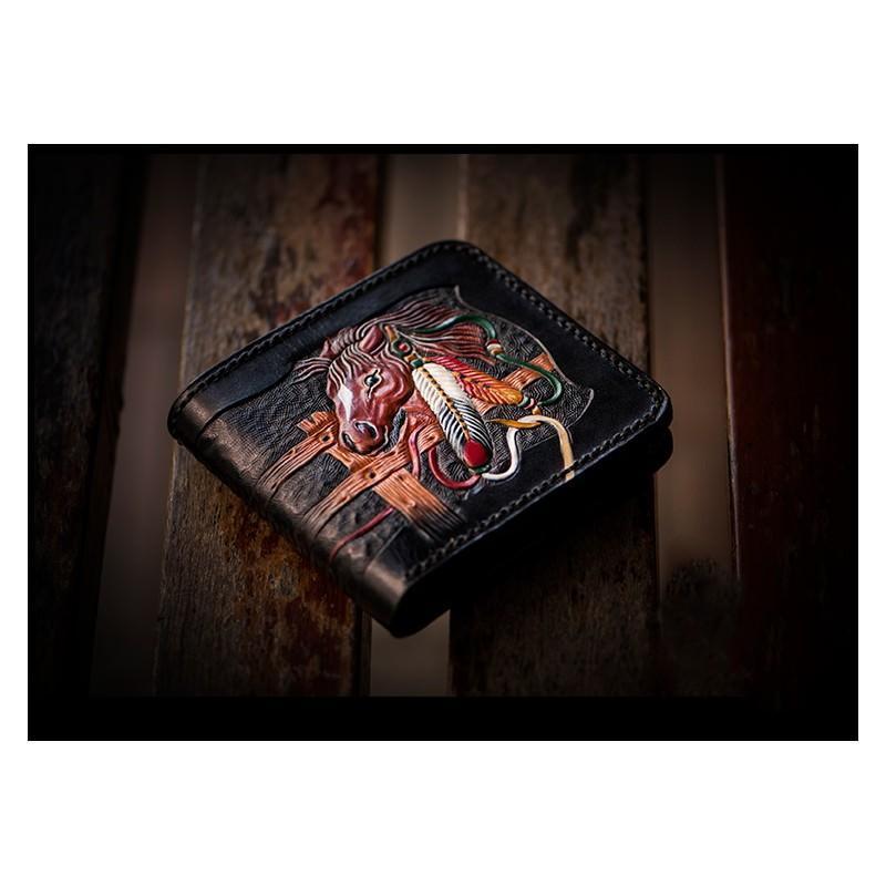 20368 - Портмоне-кошелек ручной работы Kongery Horseshoe Luck: кожа первый слой