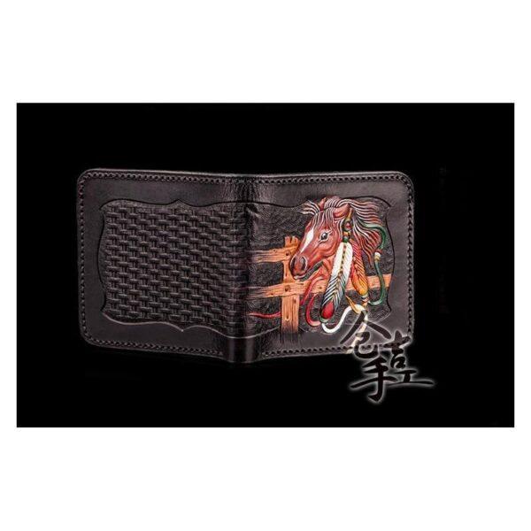 20370 - Портмоне-кошелек ручной работы Kongery Horseshoe Luck: кожа первый слой