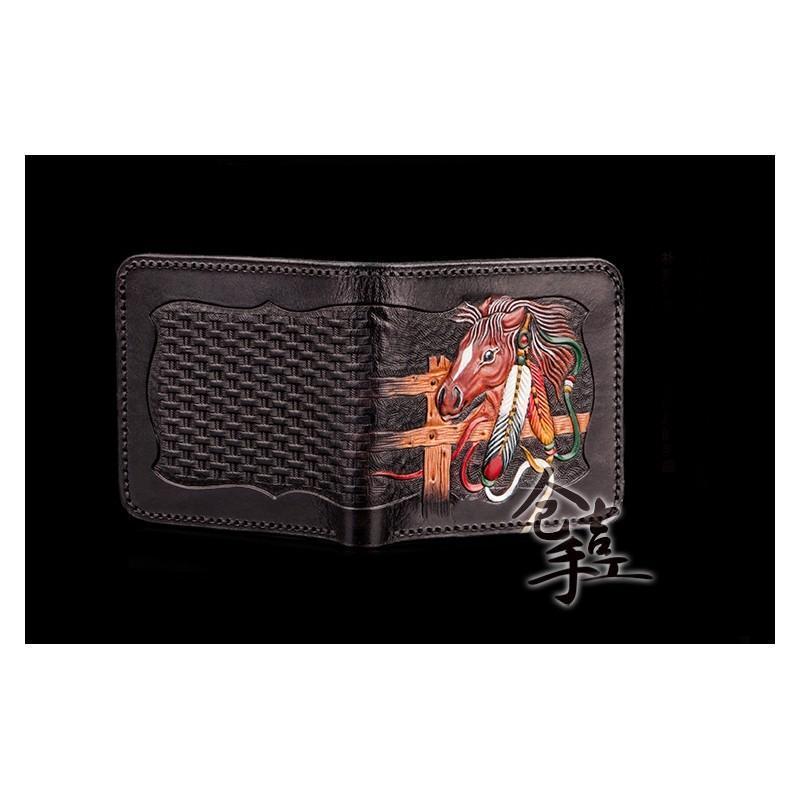 Портмоне-кошелек ручной работы Kongery Horseshoe Luck: кожа первый слой 200194