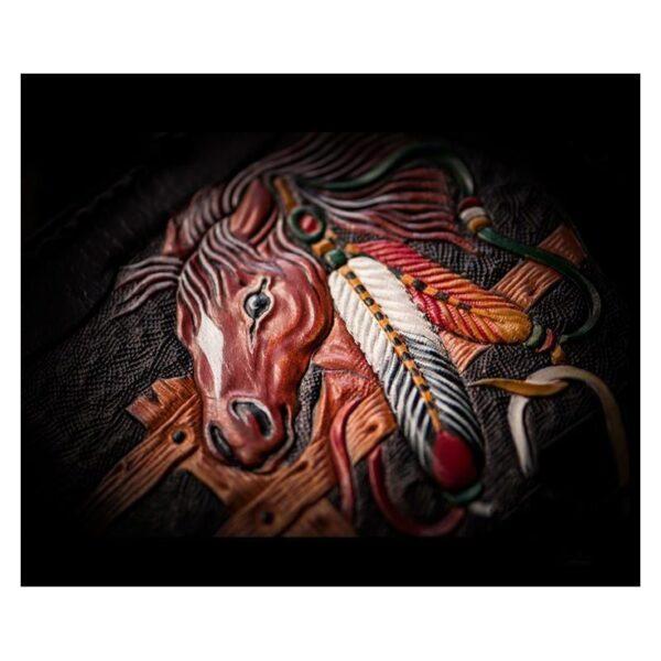 20372 - Портмоне-кошелек ручной работы Kongery Horseshoe Luck: кожа первый слой
