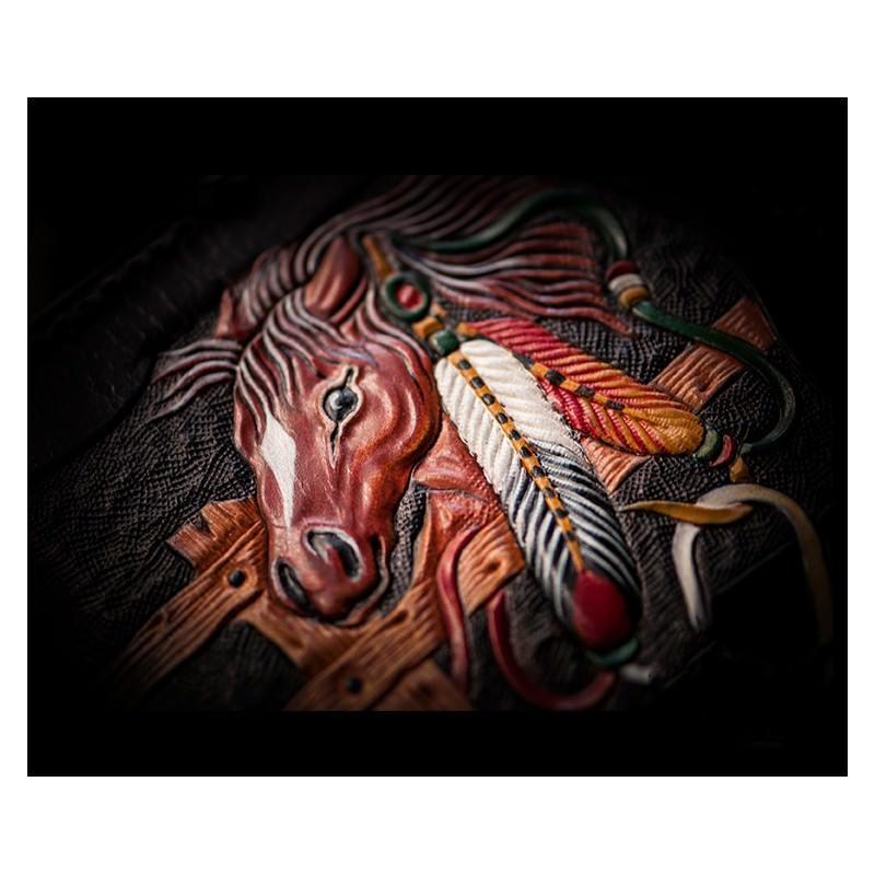 Портмоне-кошелек ручной работы Kongery Horseshoe Luck: кожа первый слой 200196