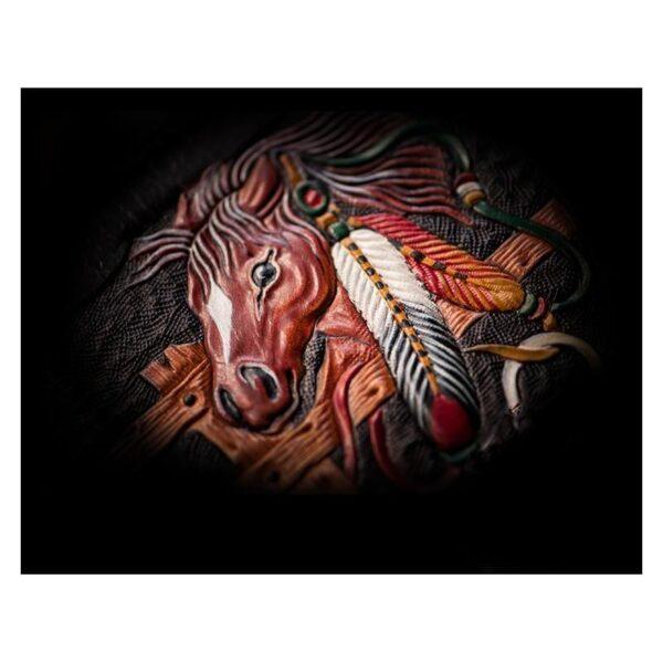 20374 - Портмоне-кошелек ручной работы Kongery Horseshoe Luck: кожа первый слой