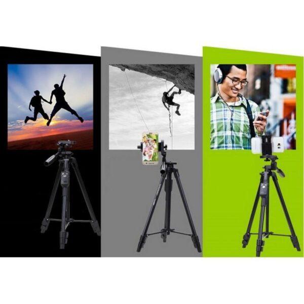 20388 - Штатив Yunteng 5208 для смартфона, планшета и фотокамеры с Bluetooth-кнопкой (43-125 см)