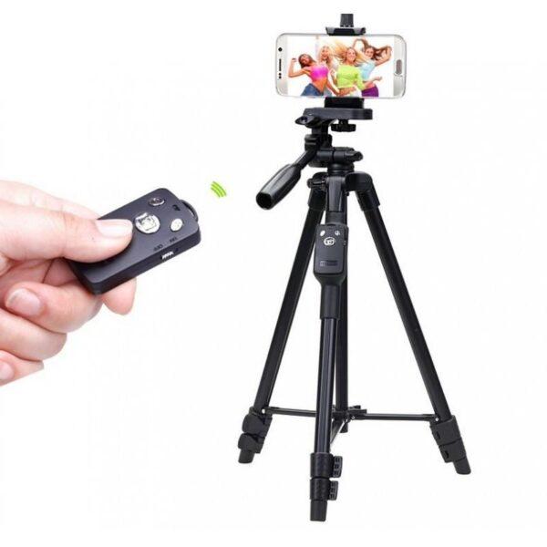 20392 - Штатив Yunteng 5208 для смартфона, планшета и фотокамеры с Bluetooth-кнопкой (43-125 см)