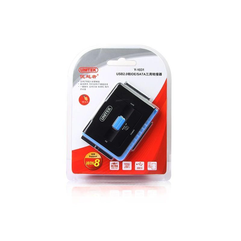 Универсальный конвертер UNITEK Y-3322 – переходник с USB 3.0 на IDE/ SATA жесткие диски 2.5/ 3.5 дюйма, а также DVD/ CD-приводы 200306