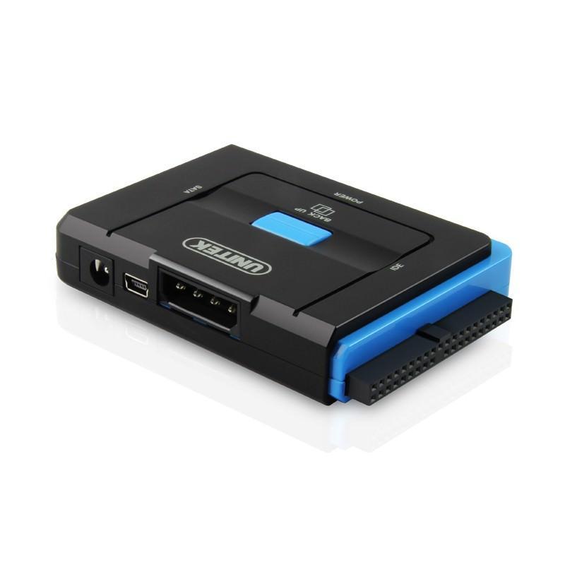 Универсальный конвертер UNITEK Y-3322 – переходник с USB 3.0 на IDE/ SATA жесткие диски 2.5/ 3.5 дюйма, а также DVD/ CD-приводы 200309