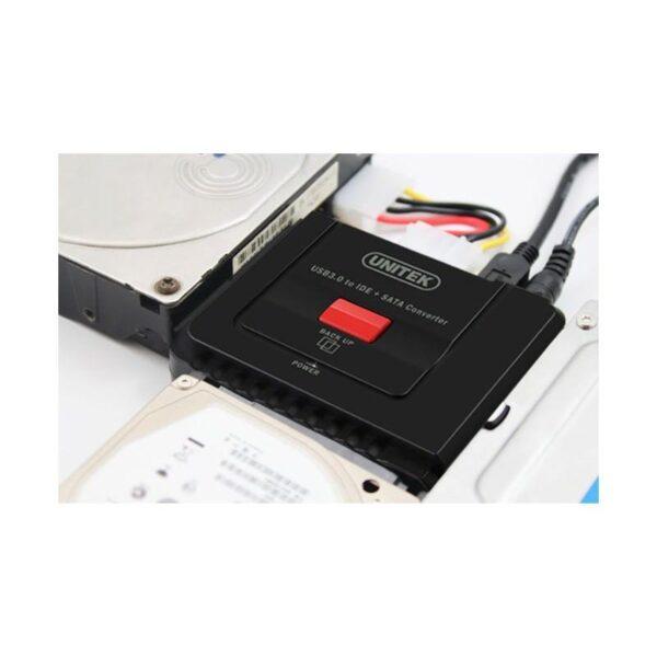 20501 - Универсальный конвертер UNITEK Y-3322 - переходник с USB 3.0 на IDE/ SATA жесткие диски 2.5/ 3.5 дюйма, а также DVD/ CD-приводы