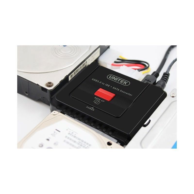 Универсальный конвертер UNITEK Y-3322 – переходник с USB 3.0 на IDE/ SATA жесткие диски 2.5/ 3.5 дюйма, а также DVD/ CD-приводы 200311