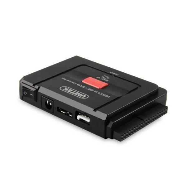 20505 - Универсальный конвертер UNITEK Y-3322 - переходник с USB 3.0 на IDE/ SATA жесткие диски 2.5/ 3.5 дюйма, а также DVD/ CD-приводы