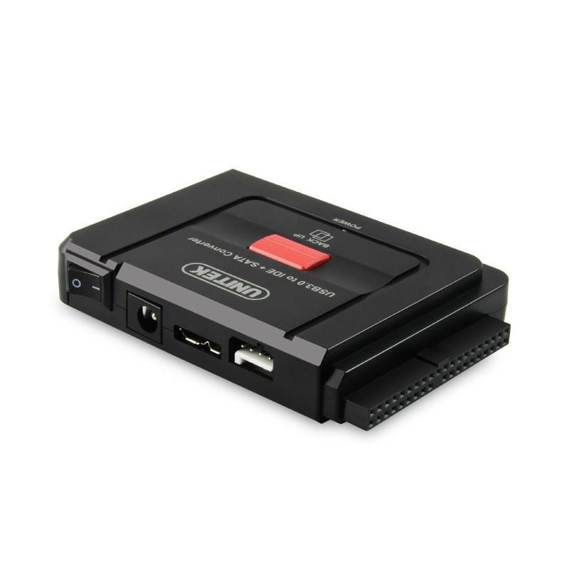 Универсальный конвертер UNITEK Y-3322 – переходник с USB 3.0 на IDE/ SATA жесткие диски 2.5/ 3.5 дюйма, а также DVD/ CD-приводы 200315