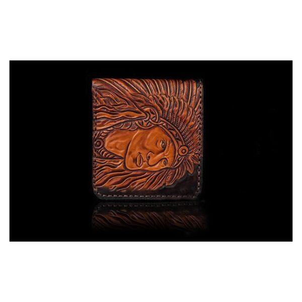 20539 - Кожаное портмоне ручной работы Kongery Indian