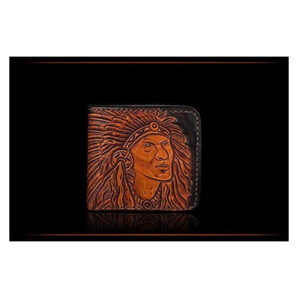20543 - Кожаное портмоне ручной работы Kongery Indian