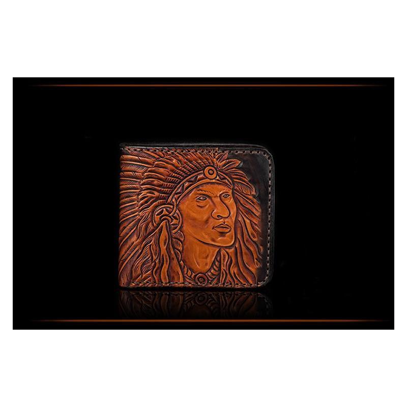 Кожаное портмоне ручной работы Kongery Indian 200349