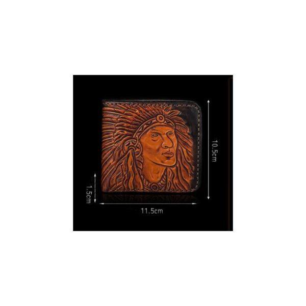 20544 - Кожаное портмоне ручной работы Kongery Indian