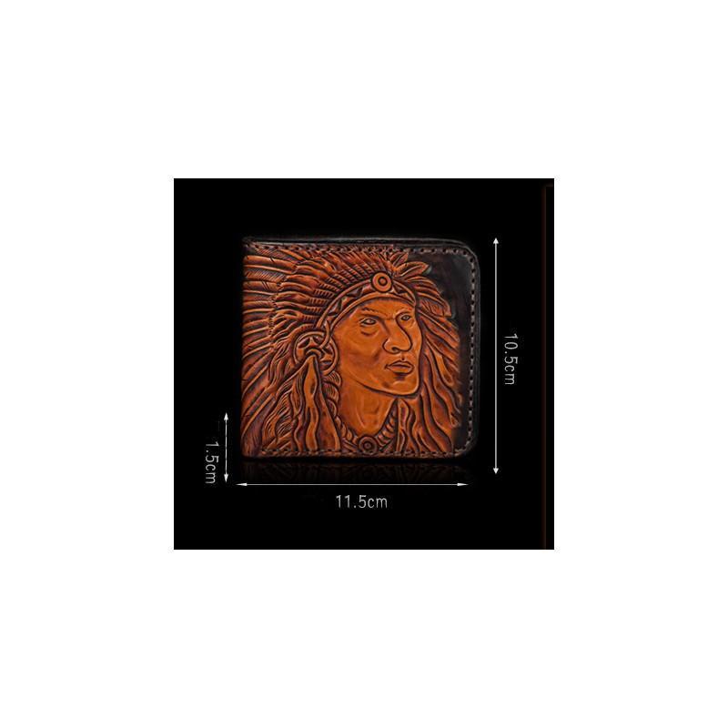 Кожаное портмоне ручной работы Kongery Indian 200350