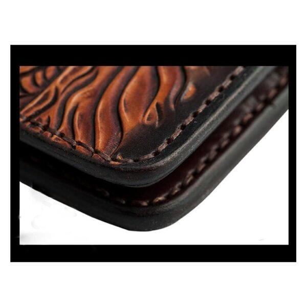 20546 - Кожаное портмоне ручной работы Kongery Indian