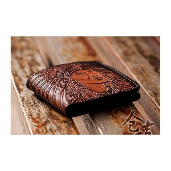 20549 - Кожаное портмоне ручной работы Kongery Indian
