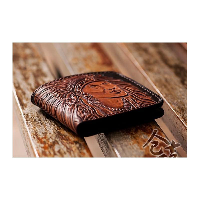 Кожаное портмоне ручной работы Kongery Indian 200355