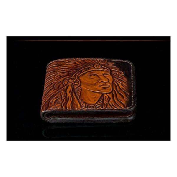 20551 - Кожаное портмоне ручной работы Kongery Indian