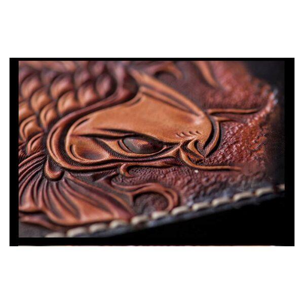 20568 - Кошелек-портмоне ручной работы Kongery Golden Carp: кожа первый слой