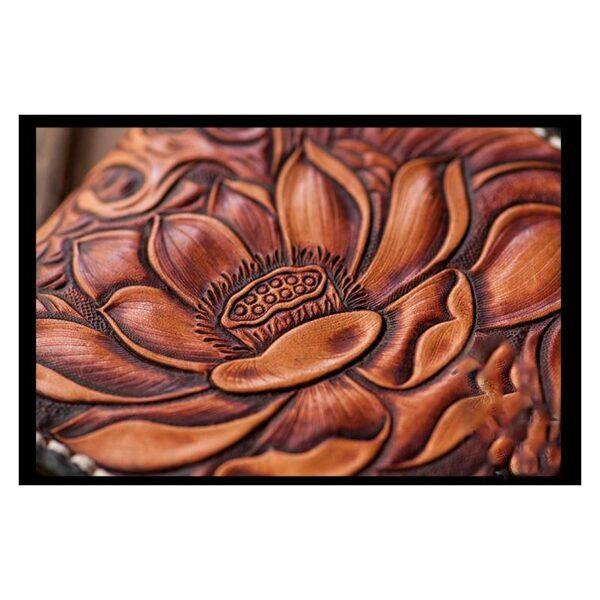 20569 - Кошелек-портмоне ручной работы Kongery Golden Carp: кожа первый слой