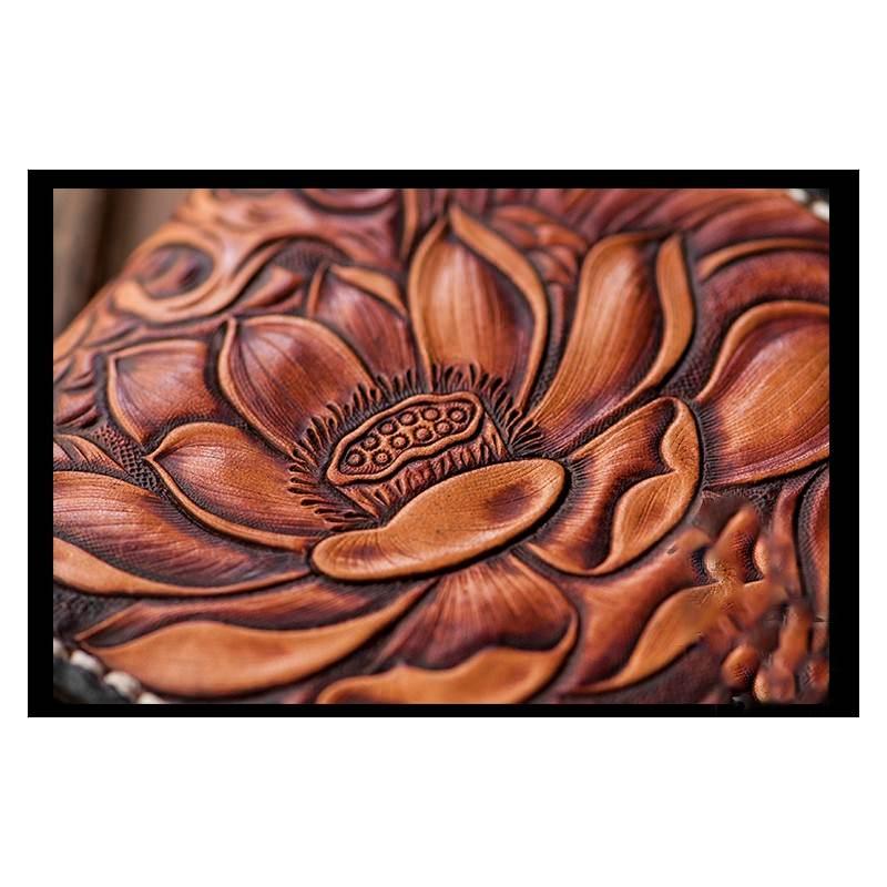 Кошелек-портмоне ручной работы Kongery Golden Carp: кожа первый слой 200373