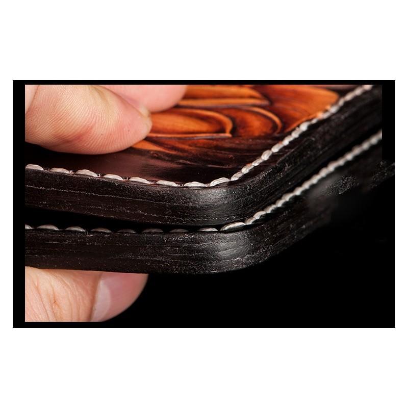 Кошелек-портмоне ручной работы Kongery Golden Carp: кожа первый слой 200374