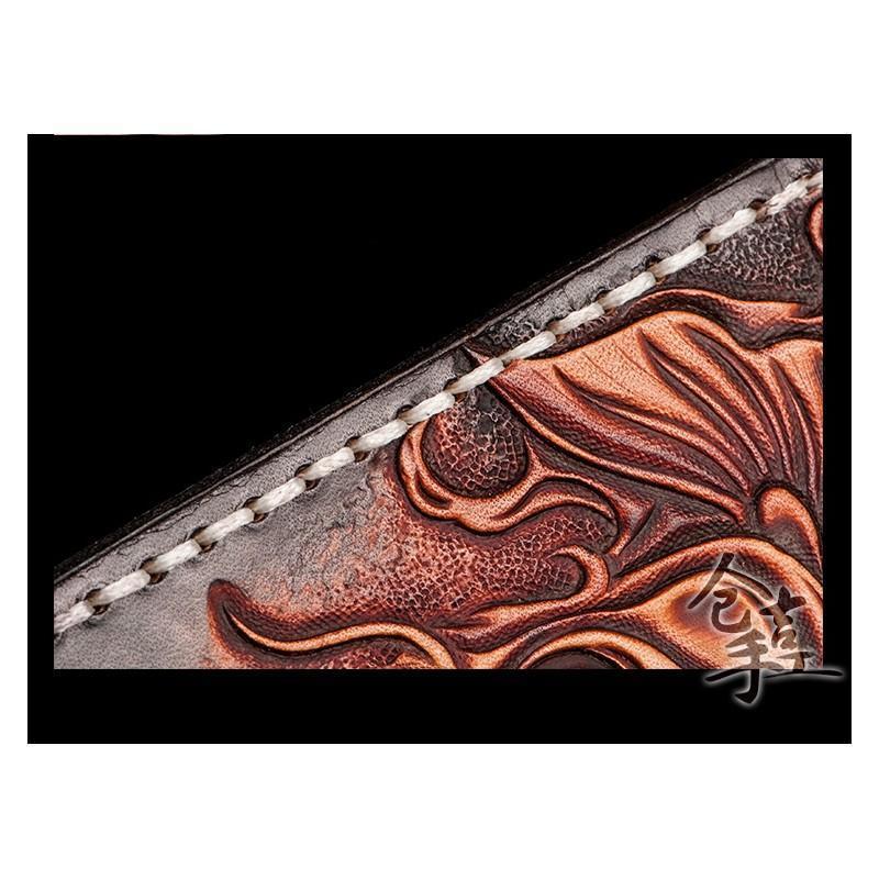 Кошелек-портмоне ручной работы Kongery Golden Carp: кожа первый слой 200375