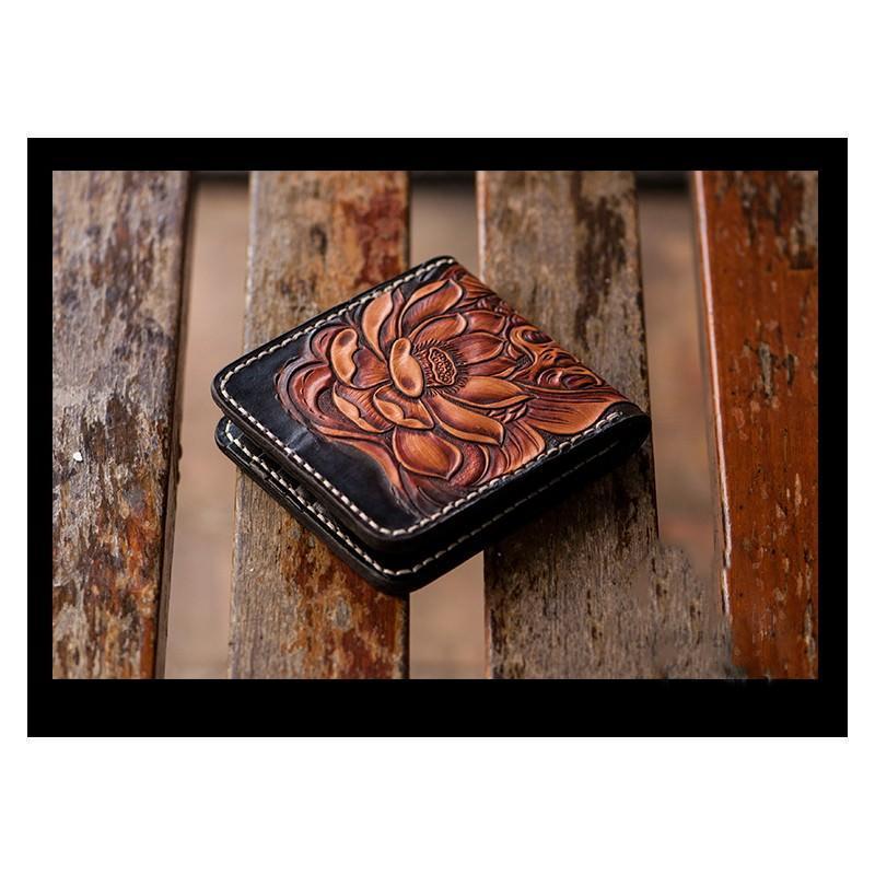 Кошелек-портмоне ручной работы Kongery Golden Carp: кожа первый слой 200377