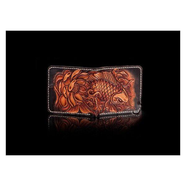 20577 - Кошелек-портмоне ручной работы Kongery Golden Carp: кожа первый слой