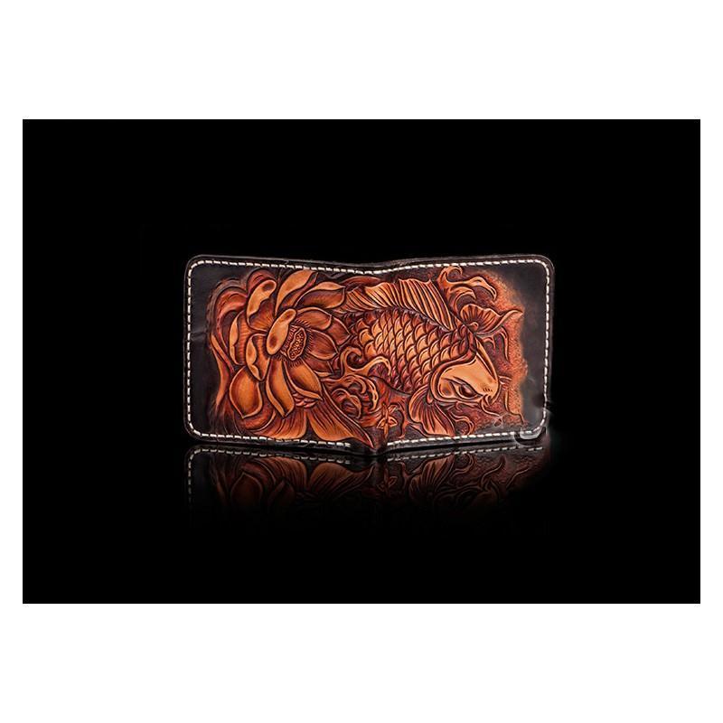 Кошелек-портмоне ручной работы Kongery Golden Carp: кожа первый слой 200381