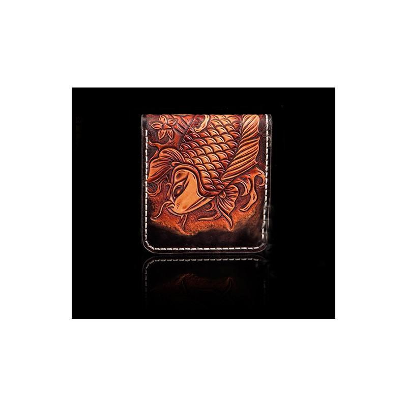 Кошелек-портмоне ручной работы Kongery Golden Carp: кожа первый слой 200382