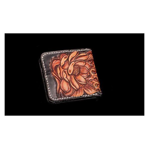 20579 - Кошелек-портмоне ручной работы Kongery Golden Carp: кожа первый слой