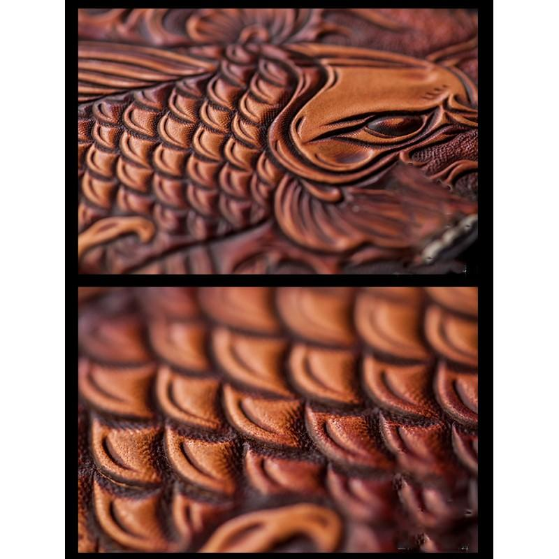 Кошелек-портмоне ручной работы Kongery Golden Carp: кожа первый слой 200387
