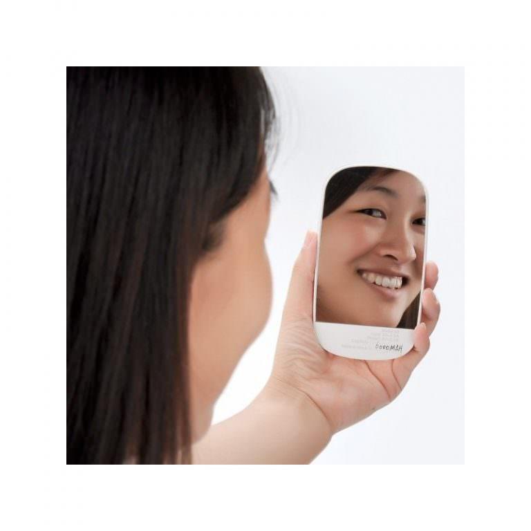 2061 - Портативный внешний аккумулятор/ power-bank с зеркалом – 6000 мАч, для любых мобильных устройств (отличный подарок женщине)