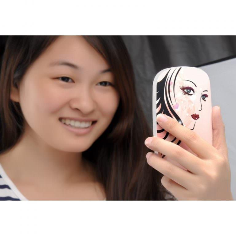 2063 - Портативный внешний аккумулятор/ power-bank с зеркалом – 6000 мАч, для любых мобильных устройств (отличный подарок женщине)