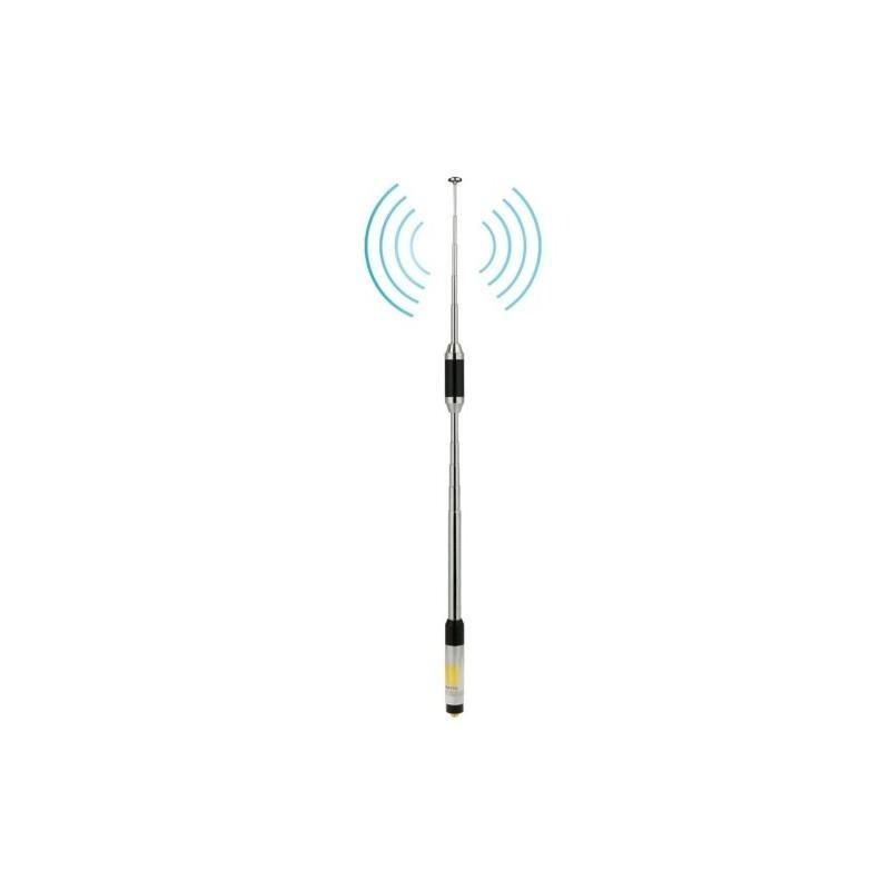Телескопическая антенна для рации RH770 – частоты 144/430 МГц, SMA-Female