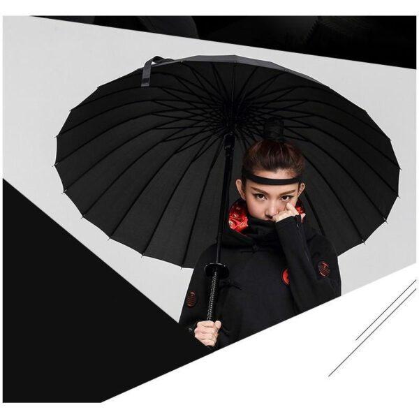 21256 - Зонт меч Катана: 24 спицы (оригинал, полная длина, спицы - стеклопластик!)