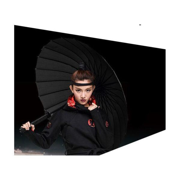 21258 - Зонт меч Катана: 24 спицы (оригинал, полная длина, спицы - стеклопластик!)