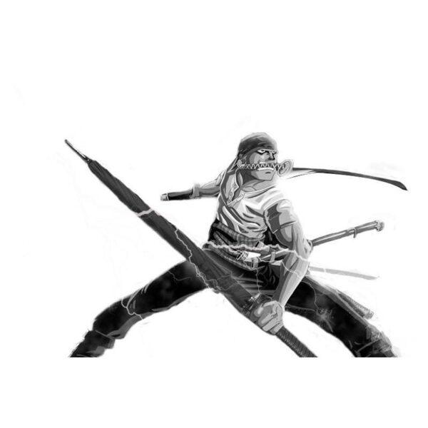21262 - Зонт меч Катана: 24 спицы (оригинал, полная длина, спицы - стеклопластик!)